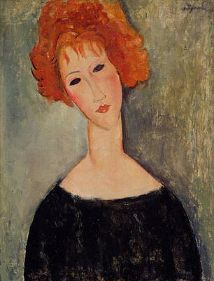 Painting - Red Head by Amedeo Modigliani