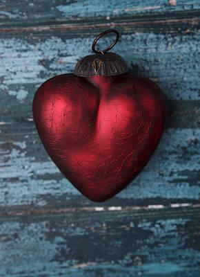 Crimson Photograph - Red Heart by Nailia Schwarz