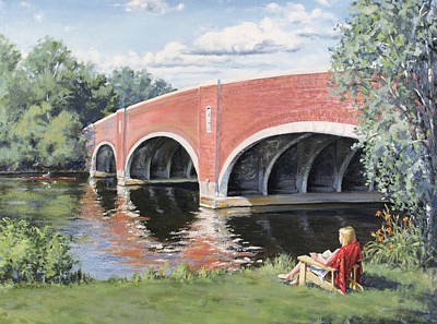 Cambridge University Painting - Red Of The Charles by Steven A Simpson