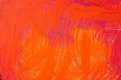 Light Paint Photograph - Red Paint by Tom Gowanlock
