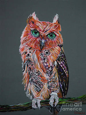 Painting - Red Owl by Silvana Abel