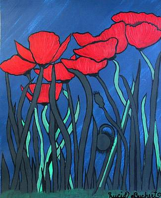 Painting - Red Poppies by Lucie Buchert