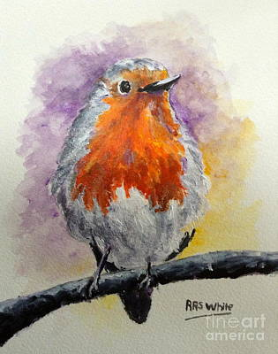 Painting - Red Robin by Art By Three Sarah Rebekah Rachel White