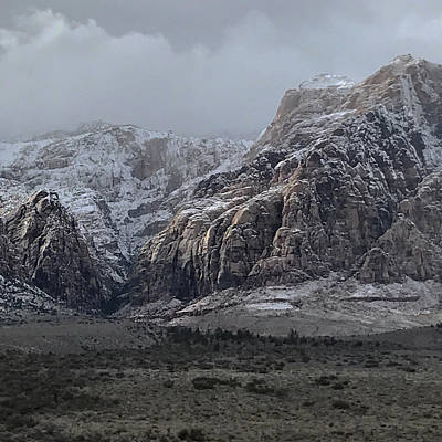 Photograph - Red Rock Canyon Snow Storm by Joe White