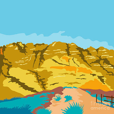 Public Administration Digital Art - Red Rock Canyon Wpa by Aloysius Patrimonio