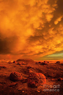 Prairie Sunset Photograph - Red Rock Coulee Sunset 2 by Bob Christopher