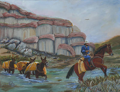 Red Rock Crossing Art Print by Gail Daley