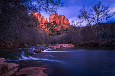 Cathedral Rock Wall Art - Photograph - Red Rock Crossing by Medicine Tree Studios