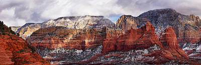 Photograph - Red Rock Peaks by Leda Robertson