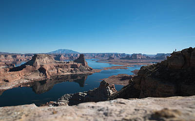 Red Rocks Drifting In Lake Powell Art Print