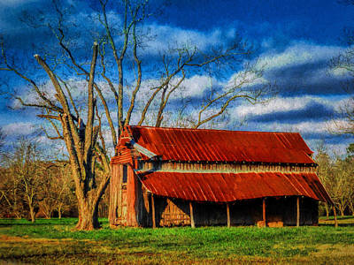 Photograph - Red Roof Barn by Dave Bosse