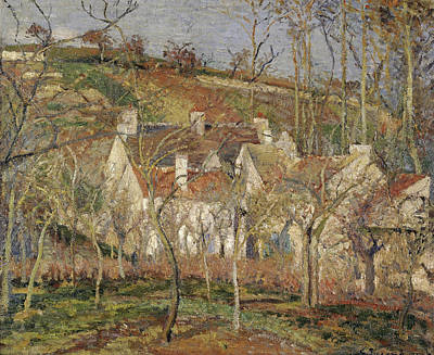 Woods Painting - Red Roofs, Corner Of A Village, Winter by Camille Pissarro