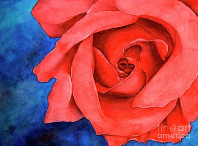Red Rose Art Print by Rebecca Davis