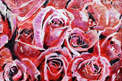 Painting - Red Roses by Banning Lary