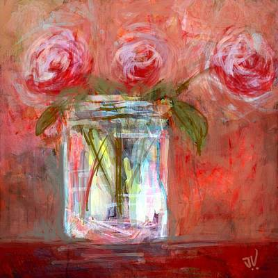 Digital Art - Red Roses by Jim Vance