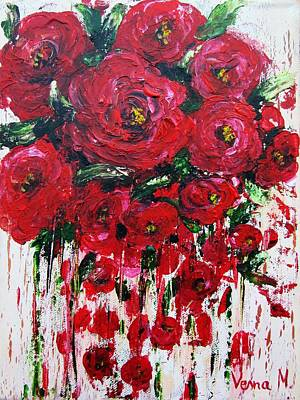 Painting - Red Roses by Vesna Martinjak