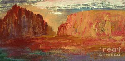 Red Sedona Print by Julie Lueders