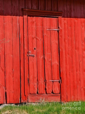 Red Shed Art Print