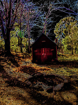 Red Shed Art Print by Randy Sylvia