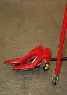 Red Shoes And Cane Original by Sherry Leigh Williams