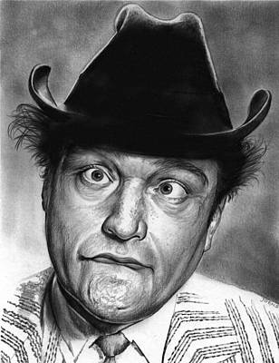 Aged Drawing - Red Skelton by Greg Joens
