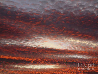 Red Sky At Dusk Art Print by Michal Boubin