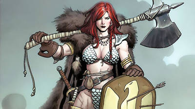 Red Digital Art - Red Sonja by Maye Loeser