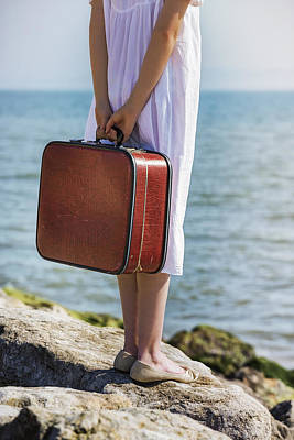 Luggage Photograph - Red Suitcase by Joana Kruse
