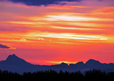 Photograph - Red Sunrise by Brian O'Kelly