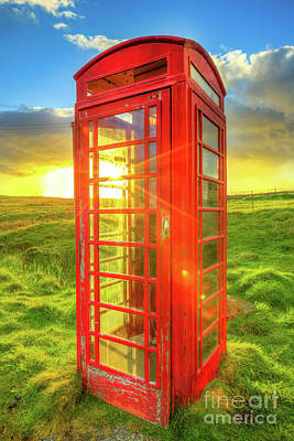 Photograph - Red Telephone Box by Benny Marty