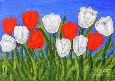 Painting - Red Tulips by Irina Afonskaya