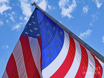 Photograph - Red White And Blue by Ann Horn