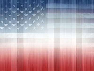 Usa Flag Digital Art - Red White And Blue by Les Cunliffe