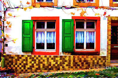 Photograph - Red Windows by Rick Bragan