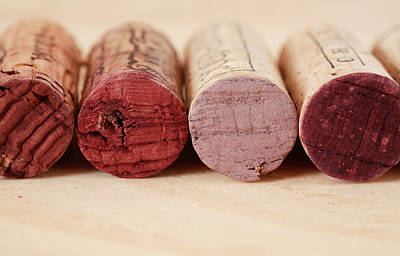 Cabernet Photograph - Red Wine Corks by Frank Tschakert
