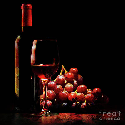 Painting - Red Wine  by Gull G