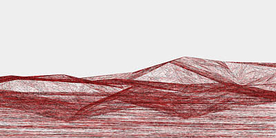 Nest Digital Art - Red.318 by Gareth Lewis