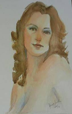 Painting - Redhead by Janet Butler