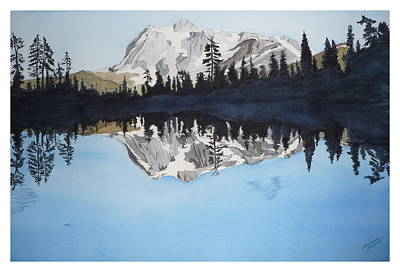 Art Print featuring the painting Reflection Lake by Joel Deutsch