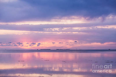 Reflections At Sunset In Key Largo Art Print