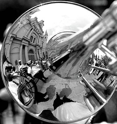 Jazz Band Photograph - Reflections In A Trombone  by Todd Fox
