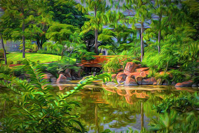 Park Scene Digital Art - Reflections by Louis Ferreira