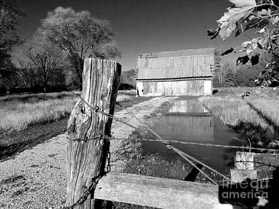 Reflections Of An Old Barn Brown County Indiana Art Print by Scott D Van Osdol
