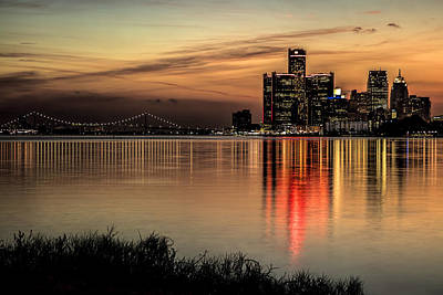 Belle Isle Photograph - Reflections Of Detroit by Pat Eisenberger