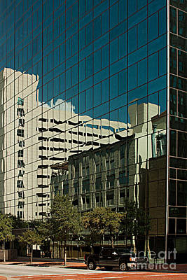 Frost Bank Building Photograph - Reflections On Fort Worth by Christian Hallweger