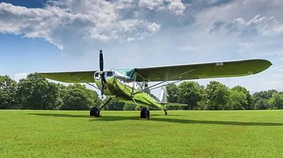 Photograph - Reflections On Grass - 2018 Christopher Buff, Www.aviationbuff.c by Chris Buff