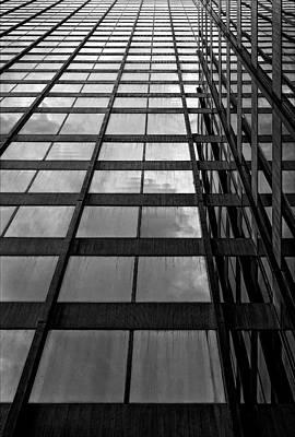Reflective Glass And Metal Building Art Print by Robert Ullmann