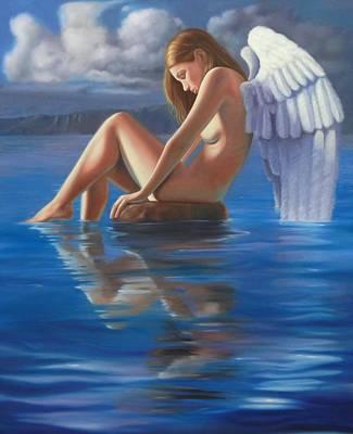 Rock Angels Mixed Media - Reflexion by Leonardo Pereznieto