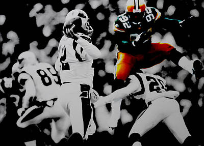Reggie White Took Flight Art Print