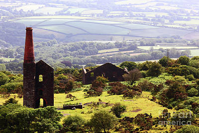 Bodmin Photograph - Remains Of Phoenix United Mine Cornwall by James Brunker